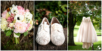 Bridal Flowers, Shoes, and Wedding Dress