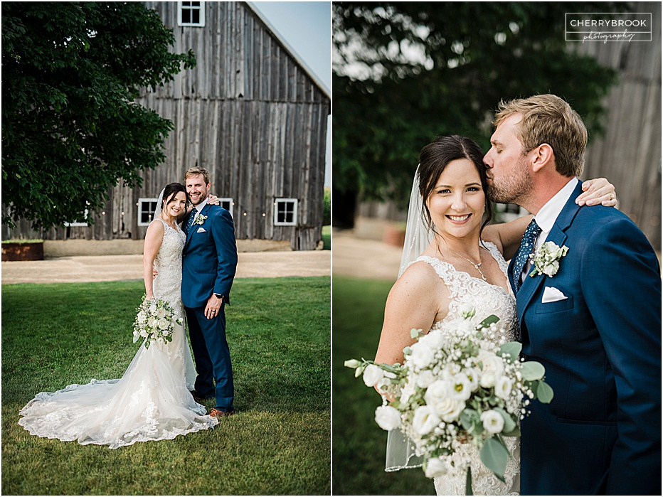 Outdoor Wedding Photographs captured on a Farm in Peoria, Illinois