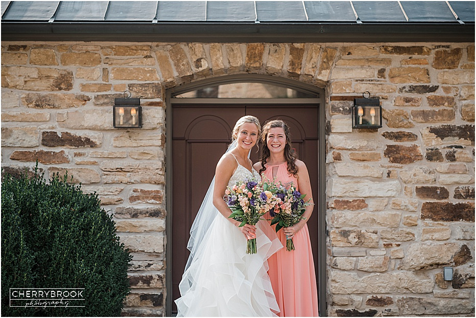 Fall outdoor wedding at Hermannhof Winery in Hermann, MO.