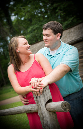 Engagement photograph at New Salem in Petersburg, Illinois.