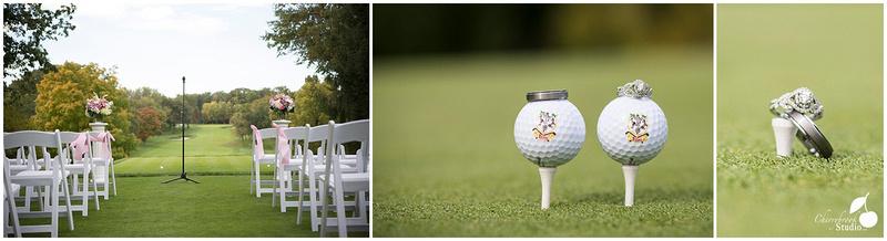 Wedding Photograph on Golf Green