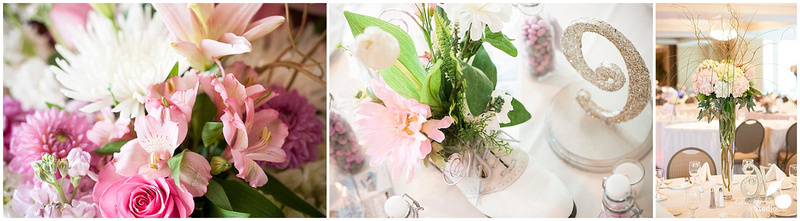 Table Decorations by Trendsetters Floral Inc. of Chatam, IL