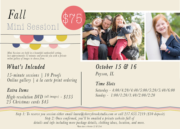 Mini Session Flyer