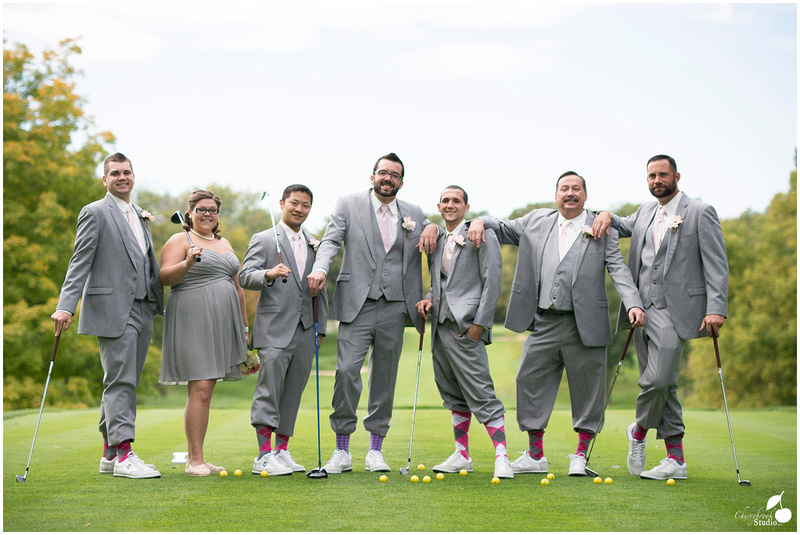 Groomsmen on Golf Course